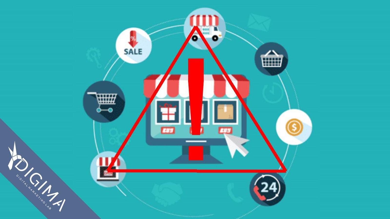 10 errori di e-commerce da evitare quando si vende online